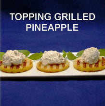 Load image into Gallery viewer, Grilled pineapple rings with Bananas Foster Mousse topping