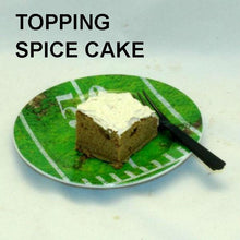 Load image into Gallery viewer, Spice cake with Bananas Foster Mousse frosting Football