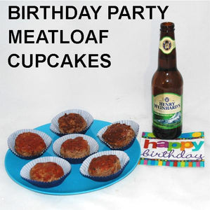 Birthday party appetizer, Roasted Garlic Spicy Ketchup Glazed Meatloaf Cupcakes