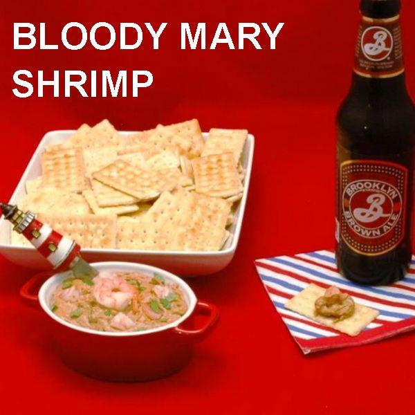 Bloody Mary Shrimp Dip July 4th