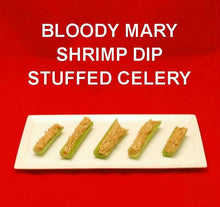 Load image into Gallery viewer, Bloody Mary Shrimp Dip stuffed celery