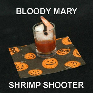 Halloween Bloody Mary Shrimp Cocktail Shooters