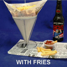 Load image into Gallery viewer, Fries dipped in Bloody Mary Spiced Ketchup served with Rogue ale