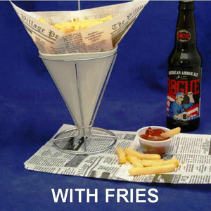 Fries dipped in Bloody Mary Spiced Ketchup served with Rogue ale