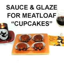 Load image into Gallery viewer, Halloween Bloody Mary Spiced Ketchup glazed meatloaf cupcakes with red wine