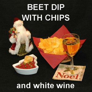Bombay Mashed Beets Vegetarian chip dip with white wine Christmas