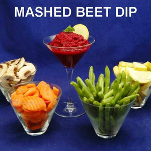 Bombay Mashed Beets Vegetarian Dip with fresh veggie dippers