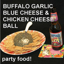 Load image into Gallery viewer, Buffalo Garlic Blue Cheese Ball with crackers Summer