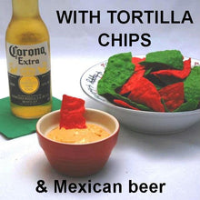 Load image into Gallery viewer, Caliente Cheddar Cheese Ball with crackers and Mexican beer