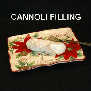 Caramel Pecan Mousse filled cannoli Christmas