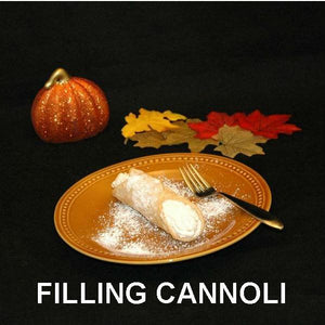 Caramel Pecan Mousse filled cannoli Fall