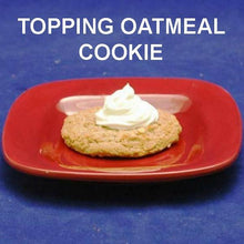 Load image into Gallery viewer, Caramel Pecan Mousse toped oatmeal raisin cookie F