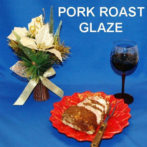 Casablanca Apple Butter Glazed Pork Roast with red wine Christmas