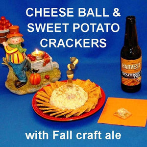 Casablanca Chicken and Apricot Cheese Ball with seasonal ale Fall