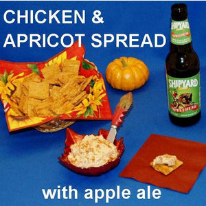 Casablanca Chicken Cheese Spread with apple ale Fall