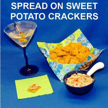 Load image into Gallery viewer, Casablanca Chicken Cheese Spread served with sweet potato crackers and a martini