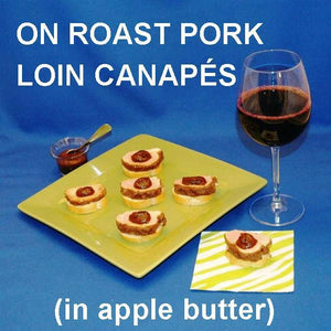 Pork and Apple Butter Canapés served with ale