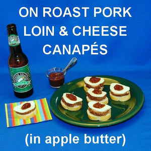 Pork, Cheese and Apple Butter Canapés served with IPA ale