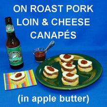 Load image into Gallery viewer, Pork, Cheese and Apple Butter Canapés served with IPA ale