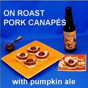 Pork and Apple Butter Canapés with pumpkin ale Fall