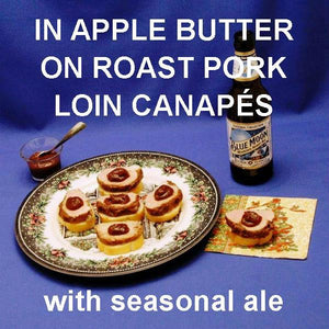 Pork and Apple Butter Canapés with seasonal ale Christmas