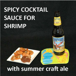 Steamed Spiced Shrimp with Casablanca Spicy Ketchup Cocktail Sauce Summer