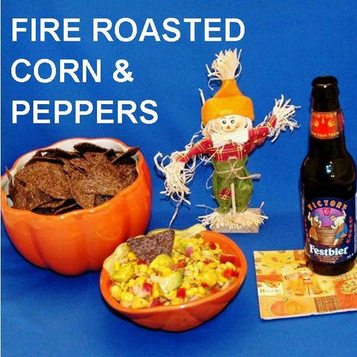 Chipotle Fire Roasted Corn & Avocado Salsa served with seasonal ale Fall