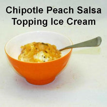 Load image into Gallery viewer, Vanilla Ice Cream with Chipotle Peach Salsa Topping