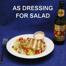 Southwestern Chicken Salad with Chipotle Ranch Dressing served with Mexican beer