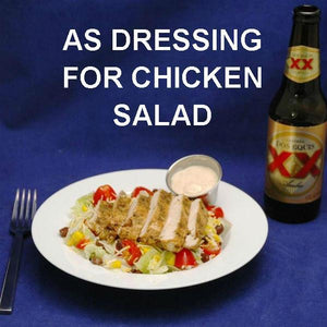 Southwestern Chicken Salad with Chipotle Ranch Dressing and Mexican beer