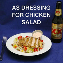 Load image into Gallery viewer, Southwestern Chicken Salad with Chipotle Ranch Dressing served with Mexican beer