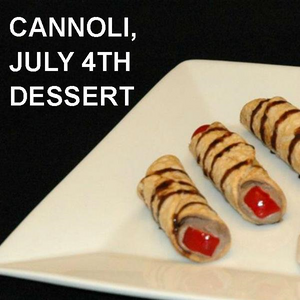 Chocolate Covered Cherries Cannoli, July 4th dessert