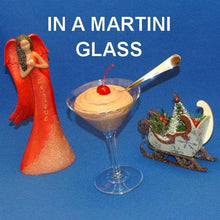 Load image into Gallery viewer, Chocolate Covered Cherries Mousse garnished with Maraschino cherry in a martini glass Christmas