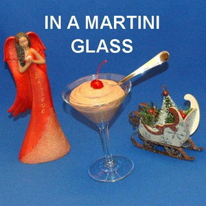 Chocolate Covered Cherries Mousse garnished with Maraschino cherry in a martini glass Christmas