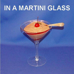 Chocolate Covered Cherries Mousse garnished with Maraschino cherry in a martini glass