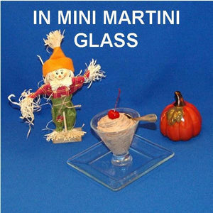 Chocolate Covered Cherries Mousse garnished with Maraschino cherry in a mini-martini glass Fall