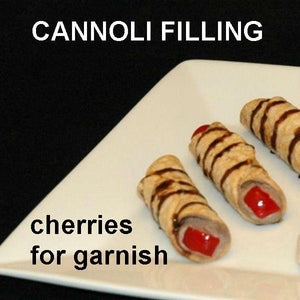 Cannoli filled with Chocolate Covered Cherries Mousse