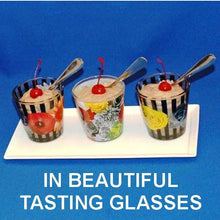 Load image into Gallery viewer, Chocolate Covered Cherries Mousse garnished with Maraschino cherries in tasting glasses Summer