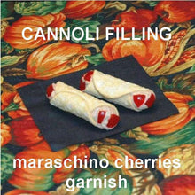 Load image into Gallery viewer, Cannoli filled with Chocolate Covered Cherries Mousse Fall
