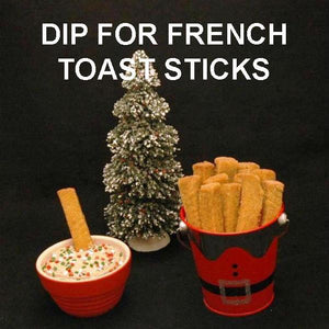 Chocolate Hazelnut Mousse Dip for French toast sticks Christmas