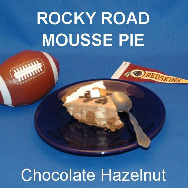 Chocolate Hazelnut Rocky Road Mousse Pie Football