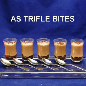 Chocolate Hazelnut Trifles in tasting glasses (Trifle Bites)
