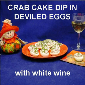 Crab Cake Dip Filled Deviled Eggs Fall