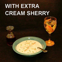 Load image into Gallery viewer, Crab Lovers' Creamy Bisque with Cream Sherry for the bisque and a glass of white wine Fall