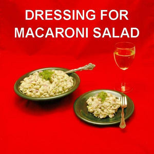 Dilled Tuna Macaroni Salad served with a dry white wine