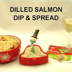Dilled Smoked Salmon Spread with white wine Christmas