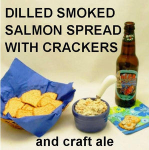 Dilled Smoked Salmon Spread with craft ale Summer