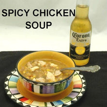 Load image into Gallery viewer, El Paso Chicken Soup served with Mexican beer