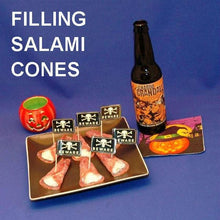 Load image into Gallery viewer, Garlic Blue Cheese Dip in Salami Cones, served with ale Hallow