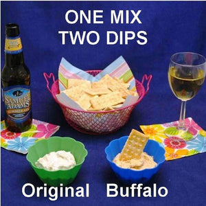 Garlic Blue Cheese Dip with Summer ale and Buffalo Garlic Blue Cheese Dip with white wine